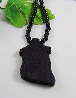 Wholesale Retail Black Jesus Good wood Nyc Necklaces Hip Hop necklace