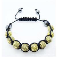 Unisex amethyst shamballa bracelet - Mixcolor fashion Jewelry Shamballa crystal Bracelet beads with Disco Balls