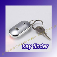 Wholesale Easy Sound Control Locator Lost Key Finder With flashing Light Chain Keychain Whistle in box