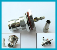 10pcsX TNC Crimp Jack bulkhead O- ring connector straight for...