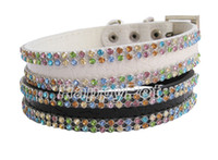 Wholesale Bling Rows Rhinestones fahion pet collars rhinestone cat collar DHL