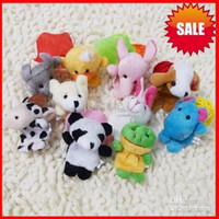 Wholesale finger puppets Plush Animal finger doll Christmas gifts Baby dolls by china post