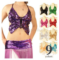 belly dancing tops - Belly Dance Top Butterfly style Color In Belly Dance Free Size Top