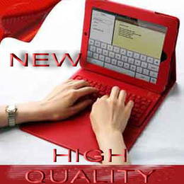 Wholesale BEST PRICE Multicolors for iPad2 amp Wireless Bluetooth Keyboard Leather Case Cover Skin Pouch