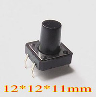 Push Button Switches 12*12*11mm 50mA Free Shipping - 50 PCS LOT x Tactile Push Button Switch Momentary Tact 12*12*11mm