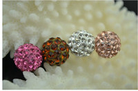 Wholesale BRAND NEW DIY mm handmade mix color hand chain crystal beads rhinestone pave ball jewelry Gift