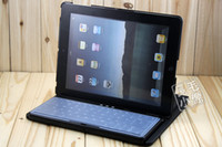 Wholesale HOT SALE Aluminum Wireless Bluetooth Keyboard case for iPad2 amp degree rotary keyboard