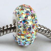 Rhinestones ab core - White AB Colors Sterling Silver Sing Core Rhinestone Crystal Beads Jewelry
