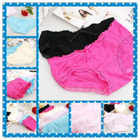 bamboo fabric underwear - Panties Underwear Briefs Knickers Pants Women Girls Charm Bamboo Fiber Fabric Lace ZSD NN007