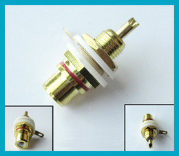 Wholesale RCA connector RCA panel mount Jack Bulkhead with nut and solder cup