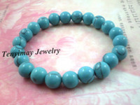 Wholesale mm Natural Turquoise Bead Bracelets Fashion Turquoise Jewelry