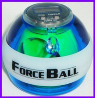 Wholesale Force Ball LED Wrist Strengthener Ball SPEED METER Fashion Fitness Sports blue