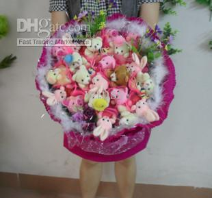 Kitty Plush Cat Cartoon Bouquet Bouquet Bouquet Birthday Flowers ...