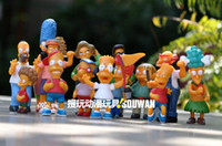 Wholesale 14pcs set The Simpsons Action Figures Homer Simpson family Children kid gift toy BRAND NEW