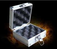 1pc aluminum gun cases - Best Quality Aluminum Tattoo Machine Gun Box Case Silver Color Tattoo Supply