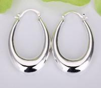air sterling silver - Hot Sales Silver Air Three dimensional U Earrings Size MM MM