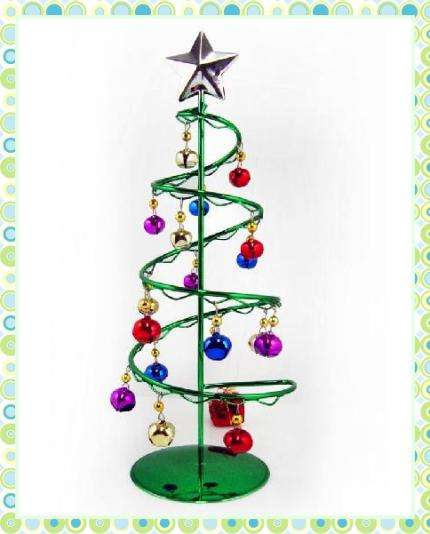 of Christmas Tree Metal Spiral Hanging Bell High-grade Christmas ...