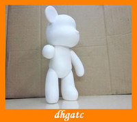 Wholesale 7 inch MOMO Gloomy Bear graffiti Vinyl DIY toys doll handmade personalized white mold