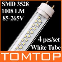 T8 9w SMD 3528 4pcs set T8 60cm 9W 144 SMD 3528 LED Tube 1008LM 85-265V White Light Fluorescent Clear lamp H4797