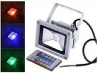 Wholesale EMS W RGB LED lamp waterproof FLOODLIGHT Remote Control Outdoor Color Change Aluminum