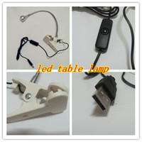 Wholesale USB LED eye protection business desk lamp study table light energy saving Flexible clip notebook PC