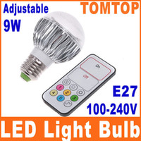 Wholesale Brightness Dimmable Adjustable LED Bulbs W E27 White LED Light Bulb Lamp with Remote Control H4901
