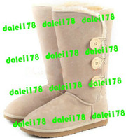 Wholesale 2011 Brand new womens snow boots NOT BGG women s Winter shoes triple button Boots edfnhjk