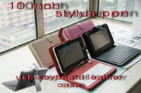 Wholesale USB keyboard leather case for inch Android Tablet pc epad apad flytouch C1249