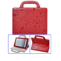 Wholesale Carry Leather Smart Case Handbag Bag Stand Cover Pouch iPad retail box mix color