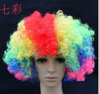 Multicolor big head photography - hairpiece Big hair wig dance photography props fans wig large explosive head lace wigs hairpiece