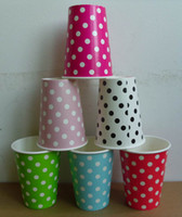 Wholesale paper cups dot paper cups party supplies birthday paper cups