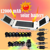 Wholesale New mah Portable Multi functional Solar Power battery Charger for ipad2 Mobile laptop Camera