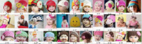 Wholesale 100 handed maded Crocheted beanies Cotton hats Baby Hats Caps colors