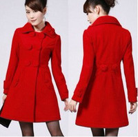 Wholesale 2016 women new fashion overcoat outerwear coats winter clothes windbreaker women s coat Women s Clothing Outerwear Coats Wool Blends