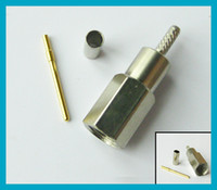 FME crimp Plug RF coaxial connector straight for LMR100 free...