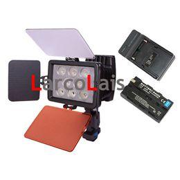 LED5080 New EU US UK Charger + Battery + 22W Led Video Light Lamp for Camera DV Camcorder Lighting