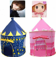 Wholesale Prince Princess Castle Tent Children Game Portable Tent Popup Folding Outdoor Game House Waterproof