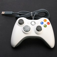 Wholesale New White Wired USB Game Pad Controller For MICROSOFT Xbox amp Slim PC Windows