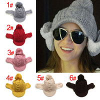 Wholesale womens hats knitting hats keep warm hat Cotton cap colours mixed