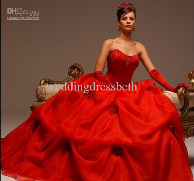 Wholesale In Stock Wedding Dresses Buy In Stock White Red