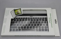 Wholesale Aluminum Keyboard Case With Wireless Bluetooth For IPAD2 DHL EMS