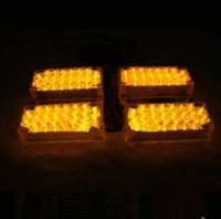 achat en gros de x 22 led-Hot! Amber 4x22 LED Strobe Flash Warning EMS Car Truck Light Light Fireman Lights 4 x 22