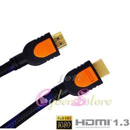 50pcs / lots 5 FT 1080P 1.5M Câble HDMI pour PS3 DVD HDTV LCD