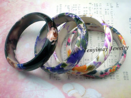Flower Printed Bangles Free Shipping Wholesale 24pcs Lot Plastic Bangles For Gift, Promotion