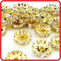 Crystal best wife - New mm DIY Basketball Wives Rhinestone Round Spacer Beads Yellow Best Quality