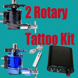 Wholesale Tattoo Supply Rotary Alloy Machines Tattoo Gun Kits Hand Size Power Supply Footswitch amp Clip Cord