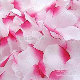 White & Hot Pink Silk Rose Petal Wedding Favors Party Decoration Petals Hot