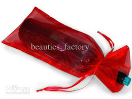 100 Pcs Red Organza Gift Bag Organza pouch Wedding Favor 14X35cm Wine bottle bags (or Mix colors)
