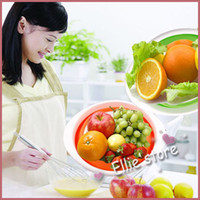 Wholesale Folding fruit basket multi function folding fruit basket fruit basket drip tray sieve Storage