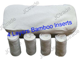 Wholesale 4 Layers New Super Absorbent Bamboo Cloth Diaper Inserts Diaper Liners